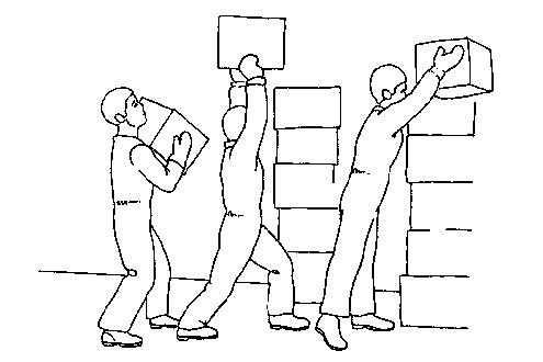 levantamiento de cargas pesadas: